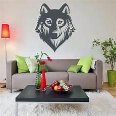 Wall De Wandtattoo - wolf wolves gesicht wandtattoo wallart wallpaper aufkleber