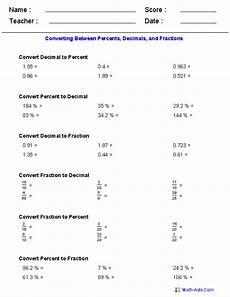 worksheet decimal to fraction 7306 percent worksheets percent worksheets for practice