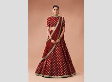 Simple Red Lehenga   Zardozi Fashion Farrukhabad