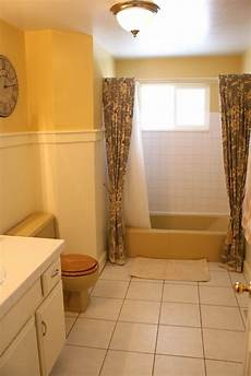 mustard yellow tub and toilet updated bathroom remodelaholic pinterest best yellow