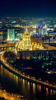 Moscow City Wallpaper For Iphone by Wallpaper Moscow City Houses Illumination