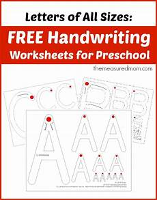 free handwriting worksheets for preschool letters of all sizes the measured