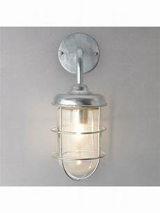 galvanised outdoor harbour wall light garden trading company st ives harbour galvanised outdoor wall light at lewis partners