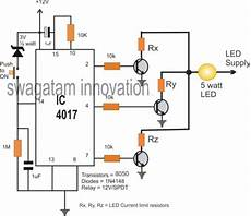 10 step relay selector switch circuit homemade circuit projects