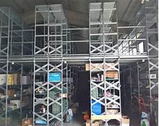 scaffali metalsistem scaffale a passerella con ripiani usato anno 2016