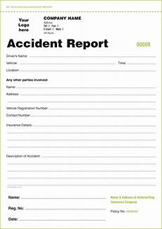 motor accident report form template analysis template