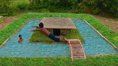 Building A Primitive Swimming Pool With A Secret
