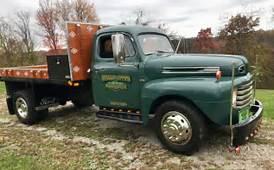 1948 Classic Ford Dually Flatbed Dump Truck Original