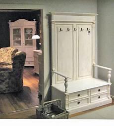 landhaus garderobe klein sitzbank schubladen truhe