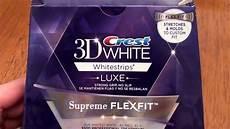 crest whitestrips supreme review crest 3d white luxe supreme flexfit whitestrips teeth