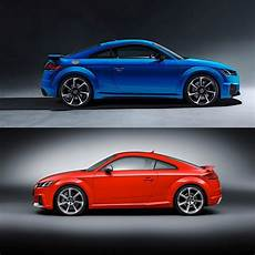 photo comparison 2020 audi tt rs vs 2016 audi tt rs autoevolution