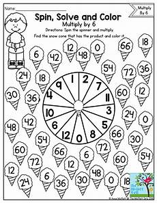 spin solve and color practicing multiplication facts with a fun math game math lessons