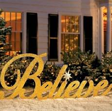 Decorations Outdoor Sale by Sale 80 Quot Gold Inspirational Believe Yard