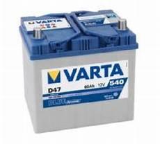 batterie varta 60ah varta d47 60ah batterie de voiture 560 410 054 fr high tech