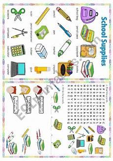 worksheets school supplies 18456 school supplies esl worksheet by laurabar