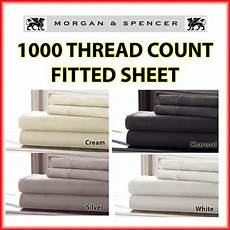 new and spencer 1000 thread count fitted sheet double queen king sking ebay