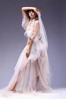 beauty fashion woman in retro vintage dress stock