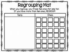 addition worksheet for grade 1 with carryover 9412 regrouping mats tens and ones by jamiep123 teachers pay teachers