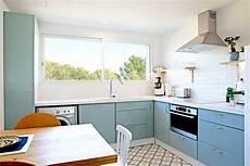 meuble cuisine bleu cuisine bleu lumineuse