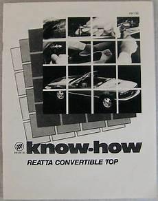 best auto repair manual 1990 buick reatta on board diagnostic system 1990 1991 buick reatta convertible body manual ebay