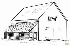 barn and lean to coloring page free printable coloring pages