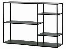 Metall Regal Schwarz Mit 4 B 246 Den 120x87 5x35cm June Woood