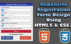 responsive registration form design using html5 css3
