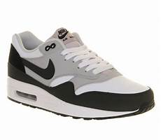 nike air max 1 white wolf grey black his trainers