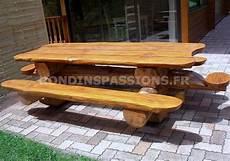 Nos Meubles Table Banc Lit Et Autres En Rondin De Bois