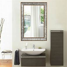 36 quot wall mirror beveled rectangle vanity bathroom furniture decor w wide edge ebay