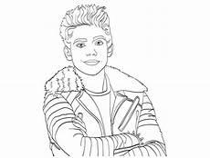 the descendants disney carlos portrait coloriage the