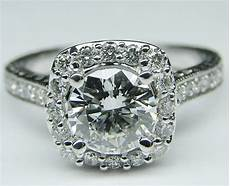 halo engagement ring setting floral gallery halo