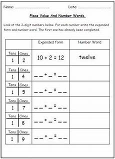 place value of numbers worksheets 5214 number words place value worksheets tens ones place value worksheets number words