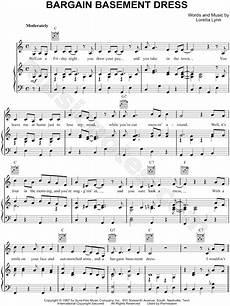 loretta lynn quot bargain basement dress quot sheet music in c major download print sku mn0119802