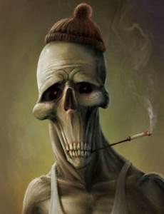 Gambar 3d Seram Skull Monsters 3d 400x523
