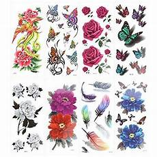 kaimeng 8 planches tatouages 233 ph 233 m 232 res papillons et fleurs