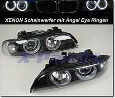 bmw e39 5er front scheinwerfer xenon schwarz