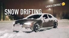 launch control my audi s4 in the snow youtube