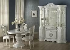 Italienische Möbel Klassisch - vitrine 8 trg great weiss silber italienisch klassisch