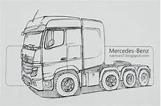 draw tgs trucks with images mercedes s