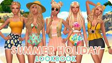 summer holiday lookbook sims 4 maxis match custom content full cc list youtube