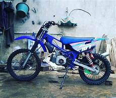 F1zr Modif Trail by 85 Modifikasi Motor Trail Bebek Standar Modifikasi Trail