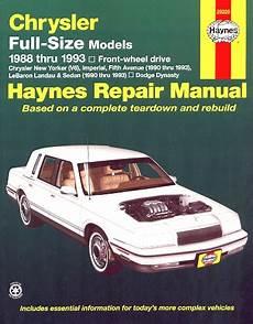 manual repair free 1992 dodge dynasty free book repair manuals new yorker fifth avenue lebaron dynasty repair manual 1988 1993