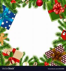 merry christmas border royalty free vector image