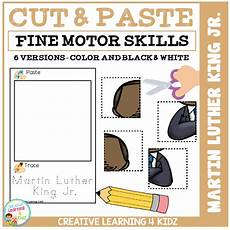 cut and paste motor skills worksheets 20651 cut and paste motor skills puzzle worksheets martin luther king day digital