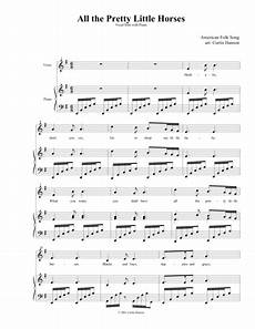 download all the pretty little horses sheet music by