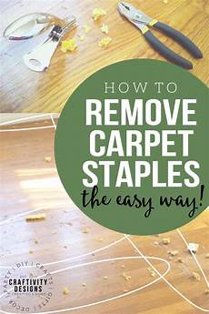 how to remove carpet staples from wood floors removing