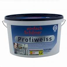 wandfarbe weiss profiweiss paint colour white painting indoor 2 5 liters