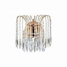 searchlight lighting waterfall crystal double wall light castlegate lights