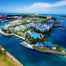 a stunning aerial shot of vibrant downtown nassau bahamas